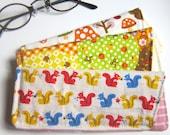 Cute Zakka cases sleeves ( LOT OF 3 - custom made ) - for eyeglasses, pens, crochet needles and scissors