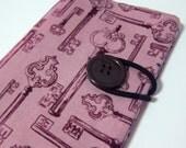 Purple vintage skeleton keys - Passport Cover passport holder passport case