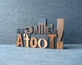 The Game's Afoot  - Vintage Letterpress Words