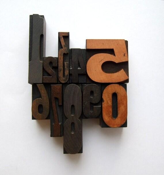 Vintage Letterpress Number Set 3