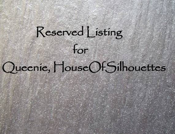 RESERVED for Queenie, HouseofSilhouettes - Son of Deco LOVE - Vintage Letterpress Word