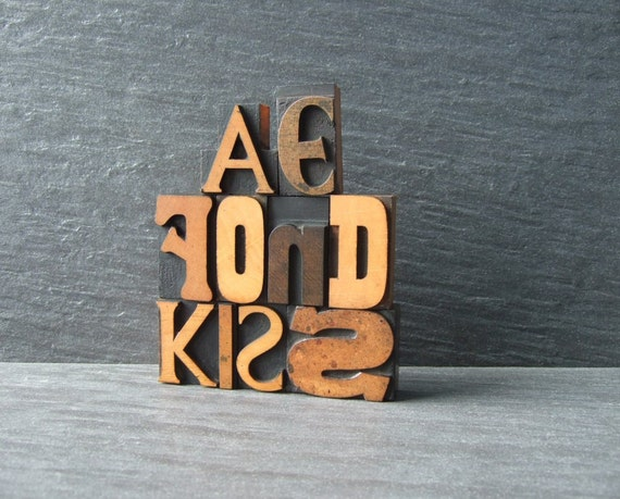 Ae Fond Kiss - Scottish Letterpress Words