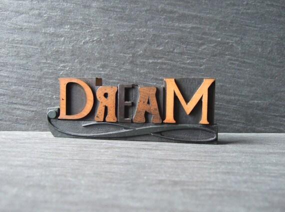 Little DREAM - Vintage Letterpress Word