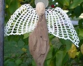 Driftwood Angel with Crocheted Wings