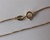 14 inch Gold fill Box Chain Necklace with Spring Clasp, Child Size 14K Goldfilled Chain
