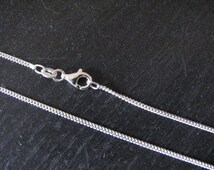 24 inch Sterling Silver 2mm Curb Chain Necklace with Fish Lock Lobster Clasp