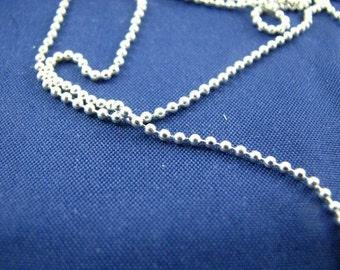 5 feet Bulk Ball Chain Sterling Silver 1.2mm Diamond Cut Beads Unfinished