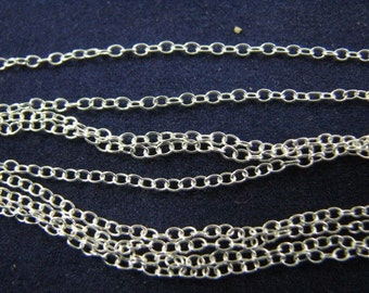 5 pcs 18 inch Sterling Silver Cable Chains 1.5mm by 1mm
