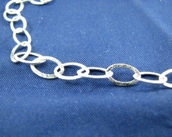 Bulk 6 Feet Sterling Silver Oval Cable Chain 6 X 9 mm