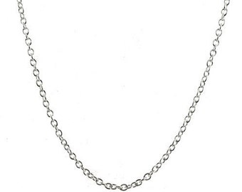 2mm Rolo Belcher Chain 25 inch Necklace with Lobster Clasp, Sterling Silver