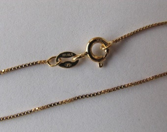 30 inch Gold fill Box Chain Necklace with Spring Clasp
