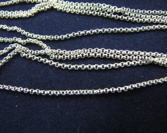 10 Sterling Silver 18 inch Rolo Chains 1.2mm Links