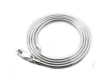 36 inch Sterling Silver 2mm Snake Chain Necklace with Lobster Clasp