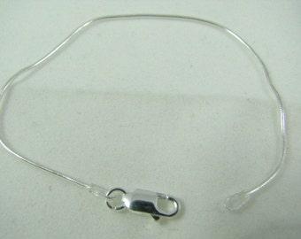10 Sterling Silver Snake Bracelets 6 3/4 inch 1mm, Wholesale Silver Bracelets