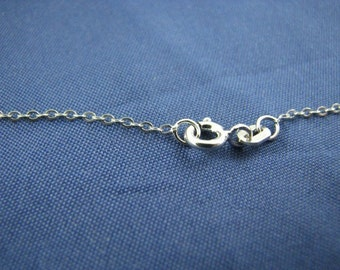 10 Sterling Silver 1.5mm Cable Link Chains 15 inch Necklaces