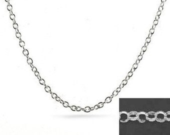 5 Feet Sterling Silver 2.2mm Round Rolo Chain by the foot