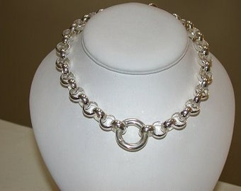 Stunning 7mm Sterling Silver 20 inch Rolo Chain Necklace