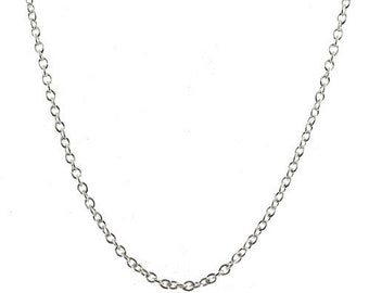 Sterling Silver 2mm Rolo Chain 18 inch Necklace with Lobster Clasp