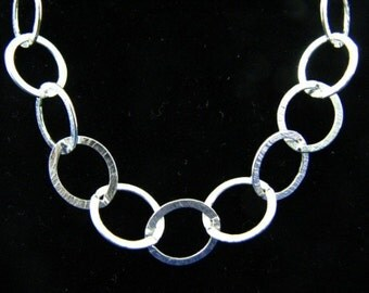 18 inch Sterling Silver 10mm Oval Link Cable Chain Necklace