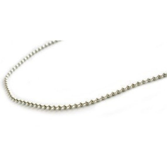 Sterling Silver 2mm Ball Chain 28 inch Necklace with Lobster Clasp