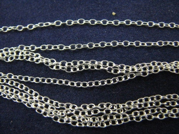 100 Sterling Silver Fine Cable Chains 18 inch Link Necklaces
