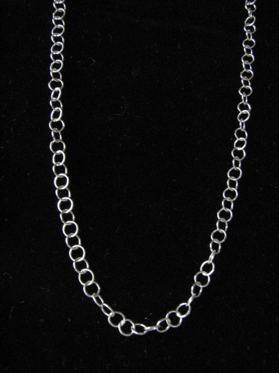 28 inch Sterling Silver 5mm Cable Link Chain Necklace with Lobster Clasp