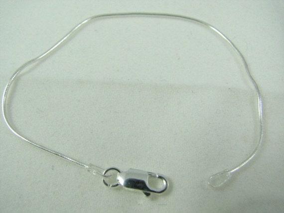 10 Sterling Silver Snake Bracelets 6 3/4 inch 1mm