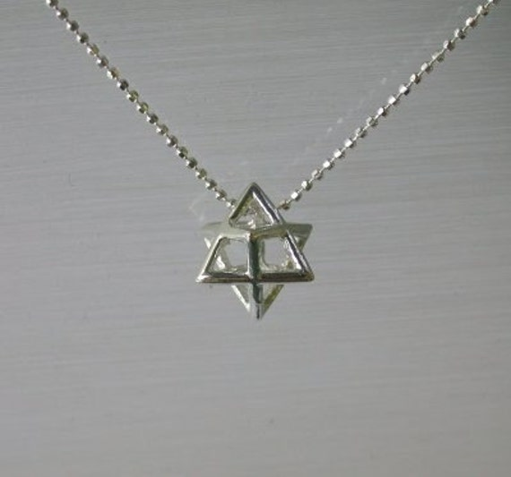 Sterling silver merkaba pendant necklace solid 925 charm and like this item mozeypictures Gallery