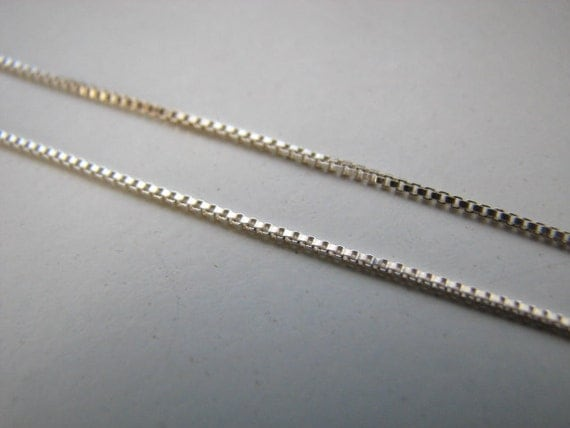 Bulk 10 feet Sterling Silver Box Chain on spool  Unfinished Chains for Jewelry Making, Solid 925 Silver, 0.8mm Fine