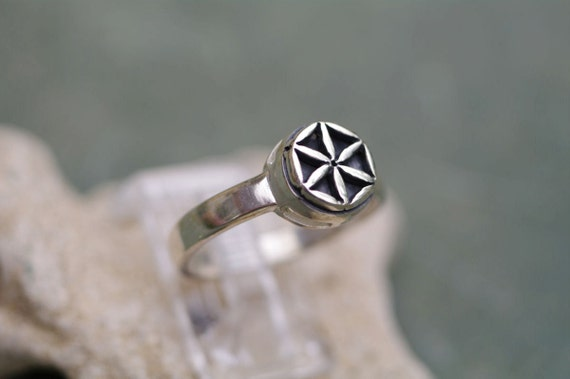Original Flower of Life Ring, Sterling Silver, Available in all sizes, Unisex