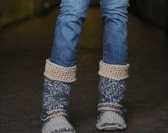 Crochet Boots, 15 inches