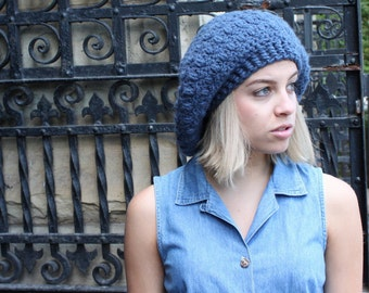 Slouchy Hat, Extra Slouchy Hat, Beret, Tam, Custom Made in Your Color Choice