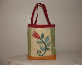 APPLIQUED TOTE BAG