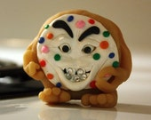 Insane Cookie---Polymer Clay Figurine