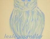 Pastel Owl Original Acrylic Painting