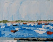 Nantucket Boats. Oil Painting