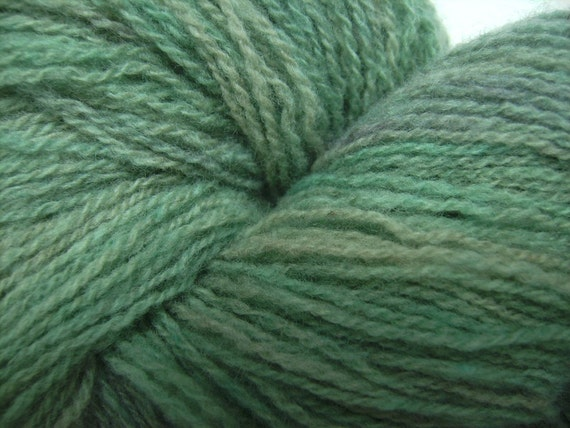 Lichen - 450 yards hand dyed lace weight lambswool yarn