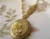 If You Find Yourself Caught In Love... ((delicate locket pendant necklace))