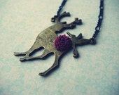 Deerest Friend... ((deer pendant necklace))