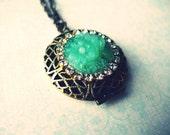 Moonlight In Vermont III... ((Vintage Inspired Locket Necklace))
