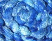 Starry Violet Eyes - 4 oz Hand Dyed 60\/40 Merino Wool\/Bamboo Fiber