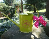 Lime Green Personalized Monogram Watering Can