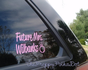Future Mrs Bride to Be Decal