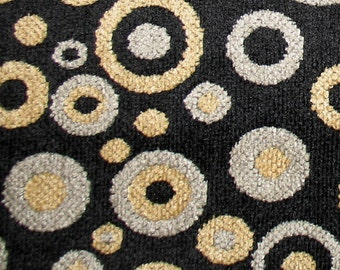 Black Chenile with Gold and Silver Dots and Circles Bean Bag Cover  (Made to Order) Bean Bag Chair Cover, Bean Bag Chair