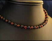 Mystic Evening - Amber and Jet necklace