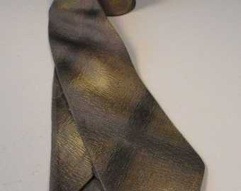 Shades of Bronze Vintage  Mens Skinny Neck Tie