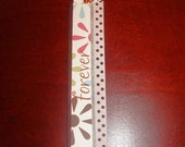 Designer Paper Bookmark and sleeve LOVE