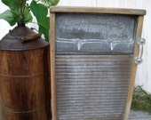 anTiQue primiTive Large GLASS WASHBOARD-PaTenTeD  Sept. 17,1915- UPcycled  inTo a WaLL CaBiNeT with Lg. anTique gLass hanDLe