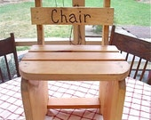 WooDen Time out Chairs-- hanDmaDe BY gRAMpS 4 U -great 4 naughty or nice