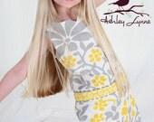 Yellow & Gray Retro Shift Dress